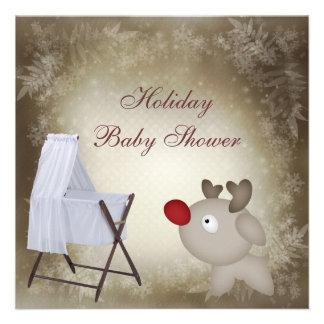 Bebé Rudolph y fiesta de bienvenida al bebé Invitaciones Personalizada