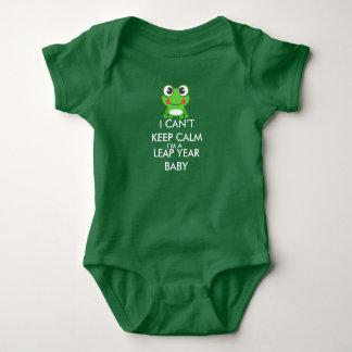Bebé Shitrt del día de salto del año bisiesto Body Para Bebé