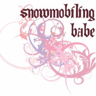 Bebé Snowmobiling Escultura Fotografica