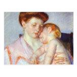 Bebé soñoliento. c. 1910, Mary Cassatt Tarjeta Postal
