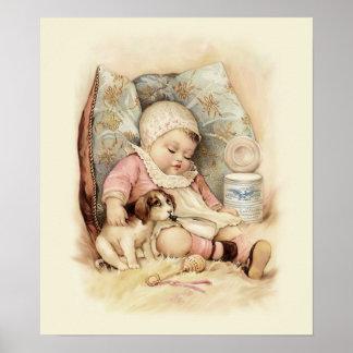 Bebé soñoliento poster