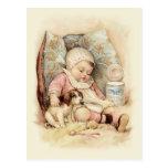 Bebé soñoliento postales