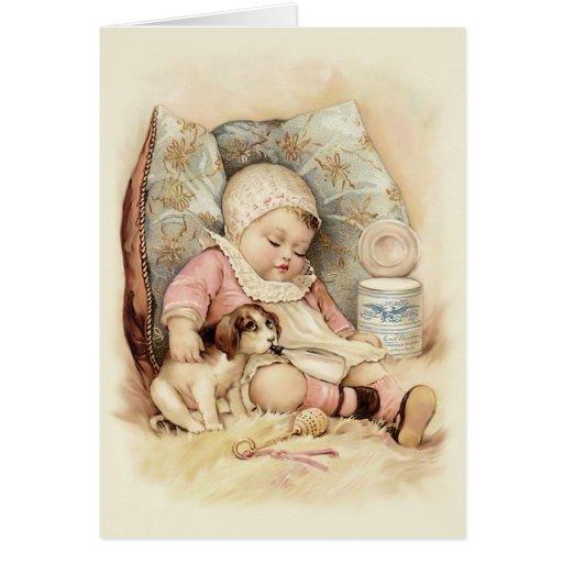 Bebé soñoliento tarjeta