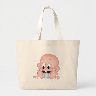 Bebé sonriente bolsa tela grande