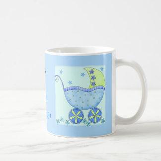 """Bebé """"su un azul personalizado nombre del taza clásica"""