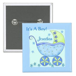 """Bebé """"su un Pin personalizado nombre de la Pin Cuadrada 5 Cm"""