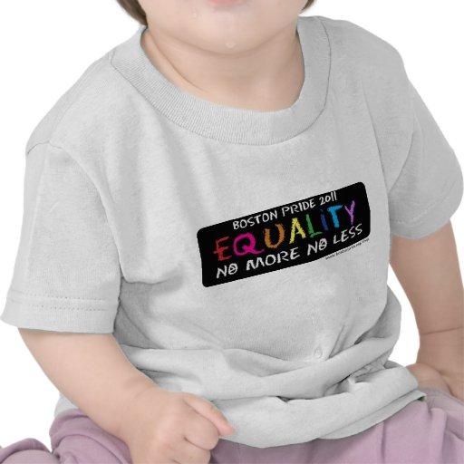 Bebé T de la igualdad Camisetas