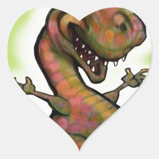 Bebé T-Rex del navidad Pegatina En Forma De Corazón