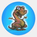 Bebé T-Rex Etiquetas Redondas
