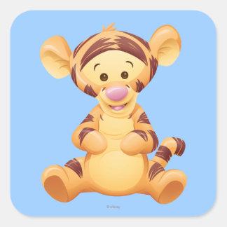 Bebé Tigger Pegatina Cuadrada