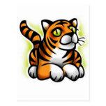bebé-tigre tarjeta postal
