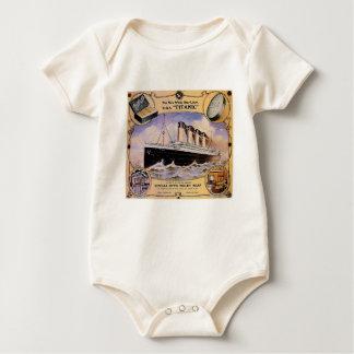 Bebé titánico del anuncio del jabón del vintage mameluco