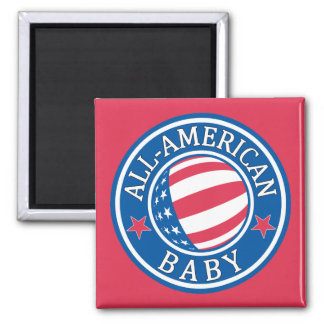 Bebé Todo-Americano Imanes De Nevera