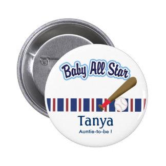 Bebé todo el botón de la etiqueta del nombre de la pin redondo de 2 pulgadas