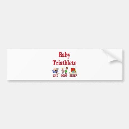 Bebé Triathlete Etiqueta De Parachoque