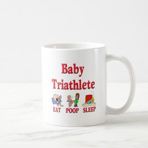 Bebé Triathlete Taza De Café