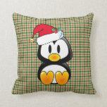 Bebé Tux del navidad con la almohada del gorra de