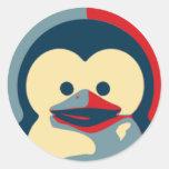 Bebé Tux Linux Pegatina Redonda
