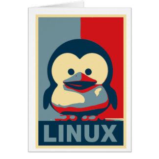 Bebé Tux Linux Tarjeta De Felicitación