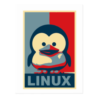 Bebé Tux Linux Tarjeta Postal