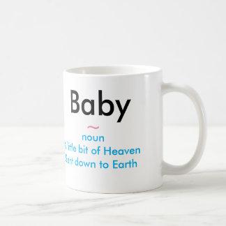 Bebé un regalo del blanco de dios taza blanca