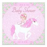 Bebé, unicornio y fiesta de bienvenida al bebé del anuncio personalizado
