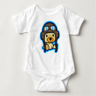 Bebé valiente lindo del piloto del oso de peluche body para bebé