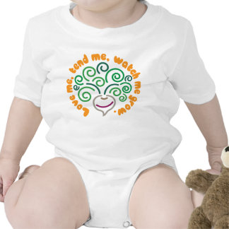 Bebé vegetal - nabo camiseta