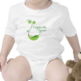 Bebé vegetariano orgánico traje de bebé
