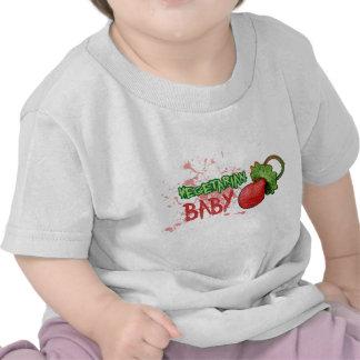 Bebé vegetariano camisetas
