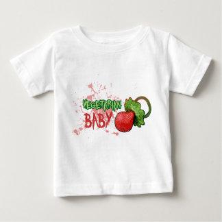 Bebé vegetariano playera de bebé