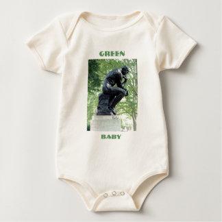 Bebé verde del pensador mamelucos