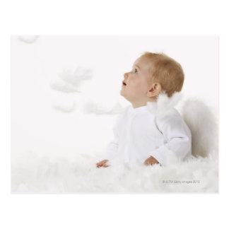 Bebé vestido como ángel tarjetas postales