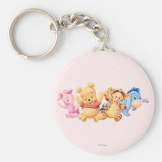 Bebé Winnie the Pooh y amigos Llavero Redondo Tipo Pin