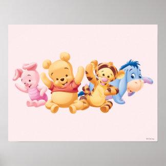 Bebé Winnie the Pooh y amigos Póster