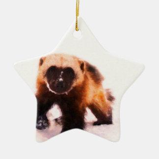 bebé wolverine.jpg adorno navideño de cerámica en forma de estrella