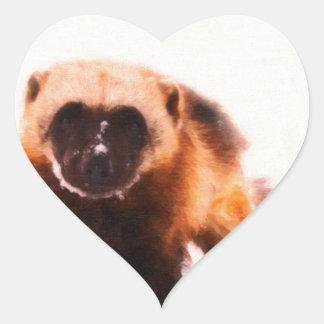 bebé wolverine.jpg pegatina en forma de corazón