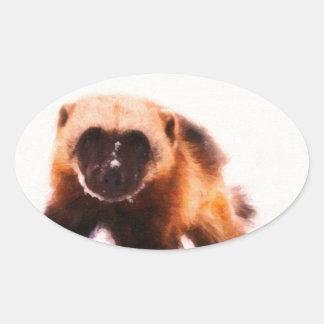 bebé wolverine.jpg pegatina ovalada