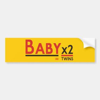 Bebé x 2 pegatina de parachoque