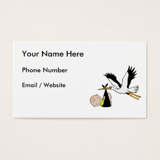 Bebé y cigüeña - paquete de alegría tarjetas de visita