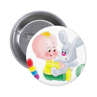 Bebé y conejito pins