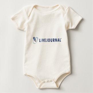 Bebé y niño (logotipo horizontal) mamelucos de bebé