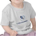 Bebé y niño (vertical del logotipo) camiseta
