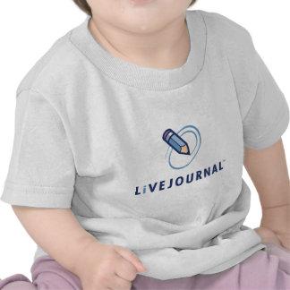 Bebé y niño vertical del logotipo camiseta