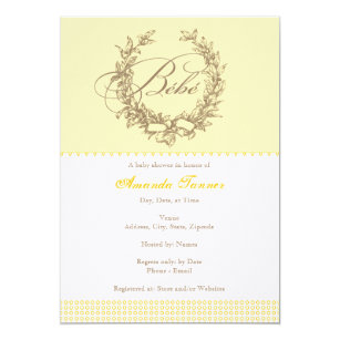 French baby shower invitations announcements zazzle bebe yellow french baby shower invitation filmwisefo