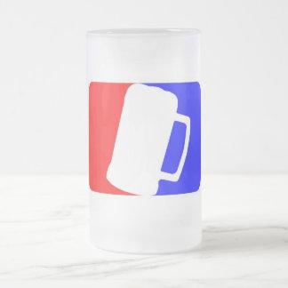 Bebedor de cerveza profesional taza cristal mate