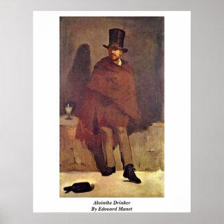 Bebedor del ajenjo de Eduardo Manet Póster