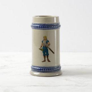 Bebedor del guerrero - taza de Stein
