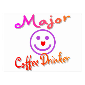 Bebedor importante del café tarjeta postal