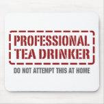 Bebedor profesional del té alfombrillas de raton